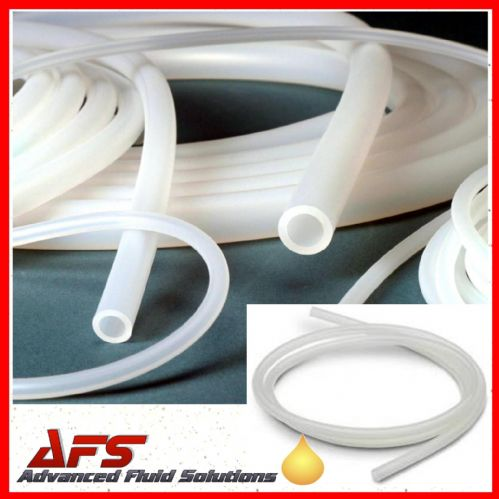 6.3mm I.D X 12.7mm O.D Clear Transulcent Silicone Hose Pipe Tubing